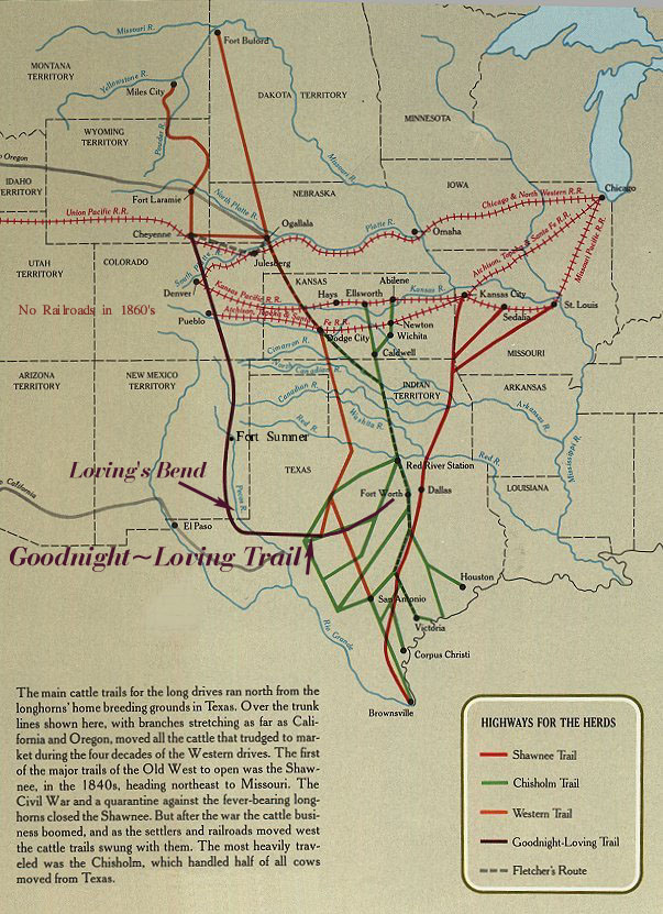 The GoodnightLoving Trail - Chisholm trail map